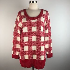 Love Hanna Andersson Red Buffalo Plaid Sweater
